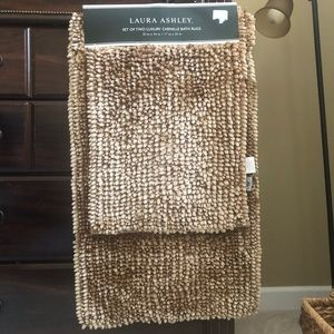 Set of two luxury chenille bath rugs